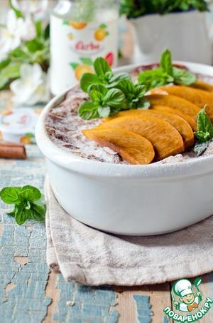 Рецепт Овсянка с персиками и абрикосовым конфитюром запеченная в духовке