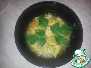 Куриный суп с картофельными клёцками домашний рецепт приготовления с фотографиями