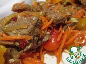 Рецепт Салат c говядиной по-восточному