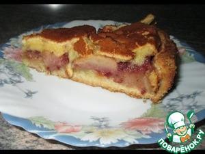 Рецепт Яблочный пирог с брусникой и кремом брюле
