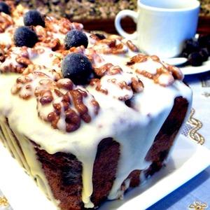 Рецепт Кекс ореховый с черной смородиной