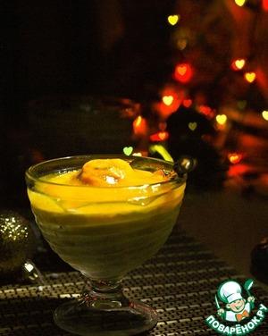 Рецепт Пудинг из саго с персиковым соусом
