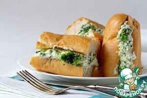 """Рецепт Сендвич с брокколи и соусом """"Морне"""""""