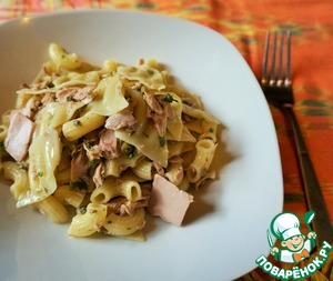 Рецепт Лимонный салат из пасты и тунца