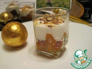 Рецепт Йогуртовый десерт с курагой