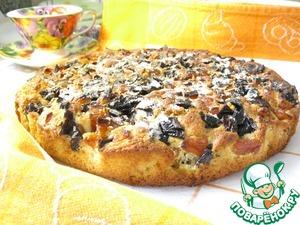 Рецепт Домашний кукурузный пирог с сухофруктами