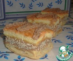 Рецепт Бисквитно-слоёное пирожное