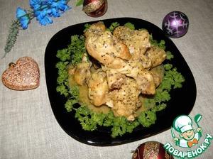Рецепт Куриные голени в маринаде из киви