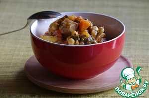 Приготовить суп фасолевый из красной фасоли с курицей