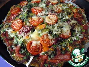 пицца рецепт с омлетом