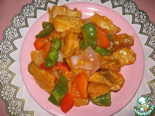 Рецепт рыбы в китайском кисло-сладком соусе