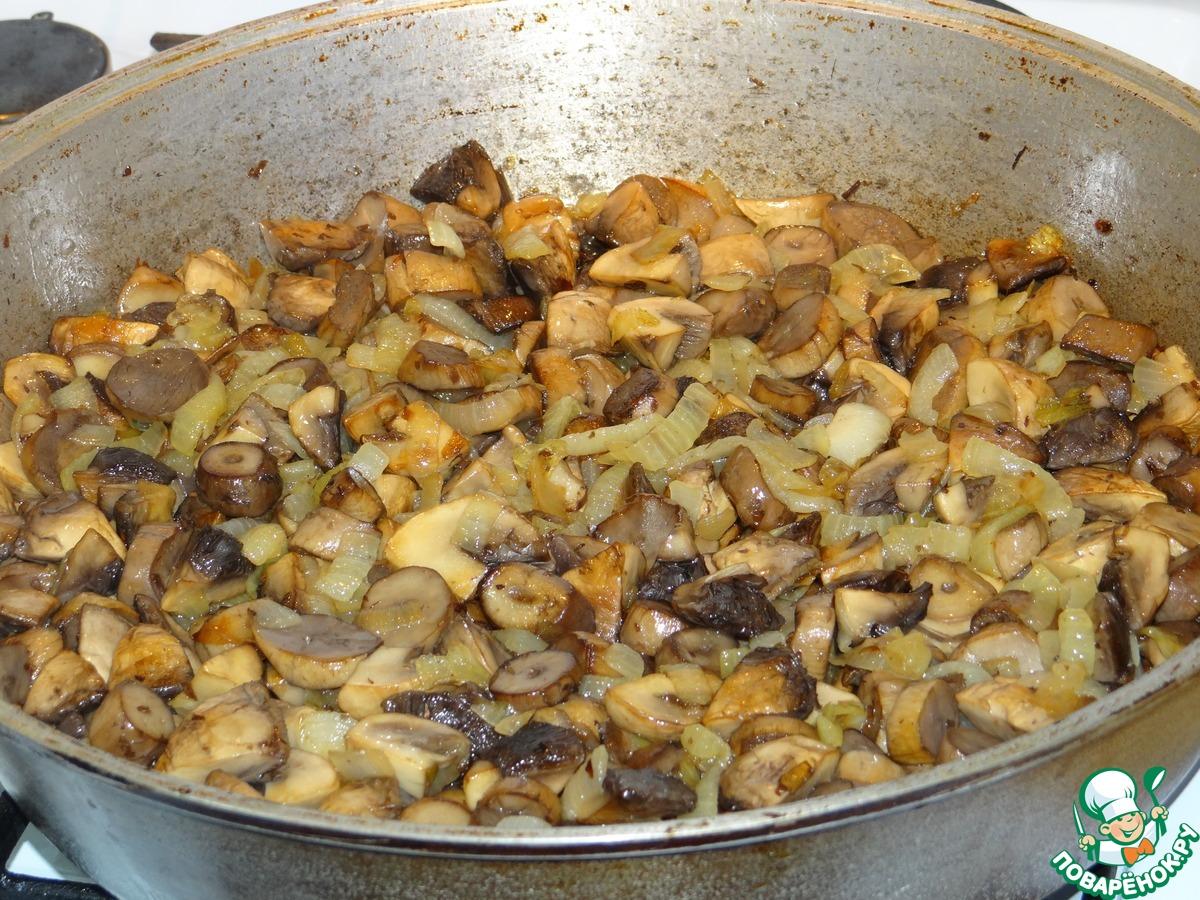 Пожарить шампиньоны с луком рецепт
