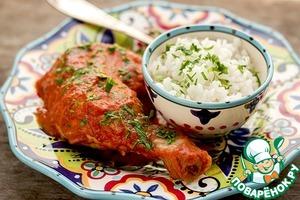 Простой рецепт приготовления с фото Курица в соусе с копченой паприкой