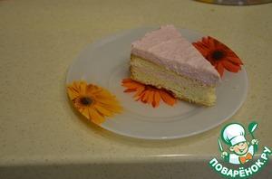Рецепт Торт с клубничным суфле