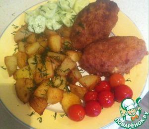 Рецепт Фаршированные свиные котлетки яйцом сыром и зеленью