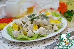 Рецепт Салат с куриными кнелями