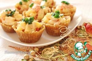 Рецепт Сырный салат в супер-быстрых тарталетках
