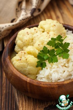 Рецепт Цветная капуста в кокосовом молоке