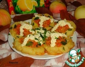 Рецепт Имбирно-картофельные тарталетки с тушеной капустой