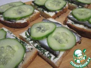 Рецепт Бутерброды с балтийской килькой