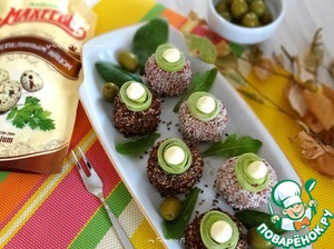 Рецепт Холодная закуска-шарики из свеклы с грибами