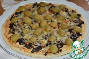 Сытная пицца по-домашнему (в аэрогриле)