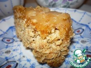 Рецепт Яблочный десерт с овсяными хлопьями