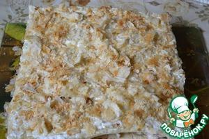 Рецепт Закусочный торт с грибами, курицей и ветчиной