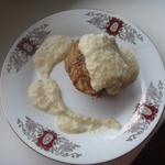 Мясной хлеб с луковым соусом