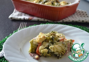 Рецепт Овощная запеканка с колбасой
