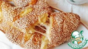 Рецепт Румяные погача с сыром на завтрак