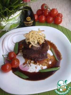 Рецепт Говядина в соевом соусе и красном вине