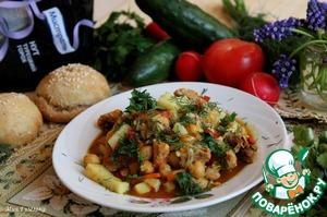 Рецепт Нут с овощами и кроличьим мясом