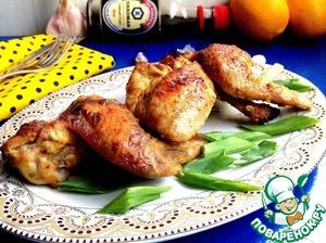 Куриные крылья в сметанно-горчичном соусе вкусный рецепт с фото как готовить
