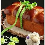Пирог из булочек с черносливовой начинкой