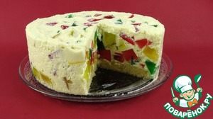 Готовим Творожно-желейный торт