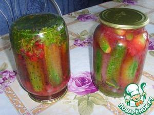 Рецепт Маринованные огурцы с соком из красной смородины