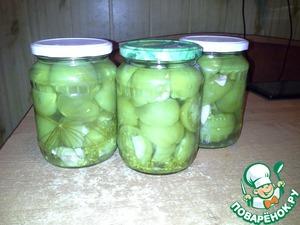 Рецепт Маринованные зеленые помидоры с чесноком