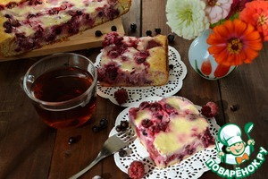 Летний пирог с ягодами вкусный рецепт с фото готовим