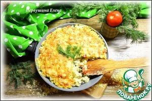 """Рецепт Запеканка пельменная с овощами """"Полуденный зной"""""""