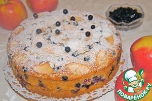 Рецепт Яблочно-миндальный пирог с черникой