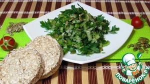 """Рецепт Зелёный салат """"Здоровье"""""""