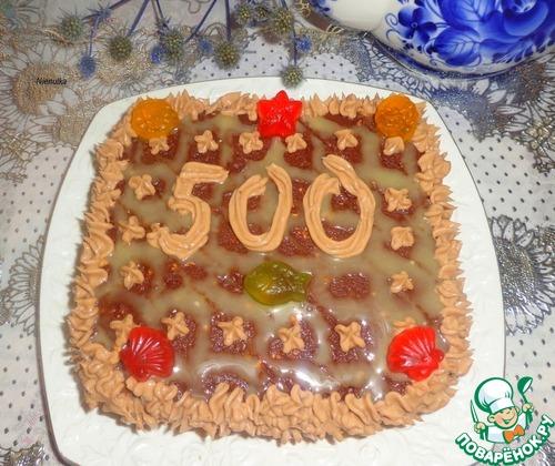 """Песочный торт """"Юбилейный"""""""