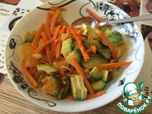 Как готовить Салат с авокадо и апельсином вкусный рецепт с фото пошагово