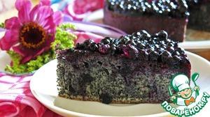 Рецепт Маковый пирог с черничным желе