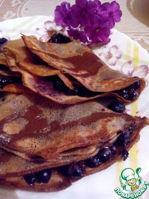 Рецепт Шоколадные блинчики с черникой