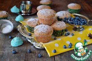 Рецепт Пряные кексы с голубикой
