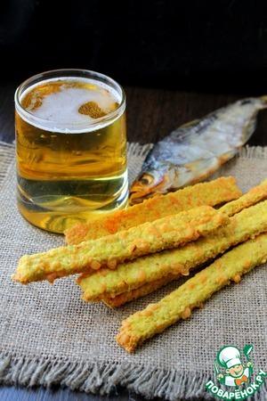 Рецепт Овсяные палочки к пиву