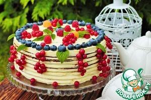 Рецепт Летний торт с голубикой