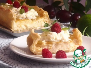 Рецепт Маленькое ванильное пирожное